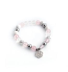 Bijoux Sophistikate Bracelet en pierre semi-précieuse - Pétale de rose
