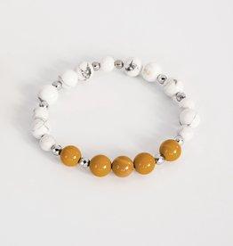 Bijoux Sophistikate Bracelet en pierre semi-précieuse - Ocre