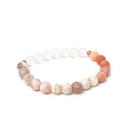 Bijoux Sophistikate Bracelet en pierre semi-précieuse - Pêche