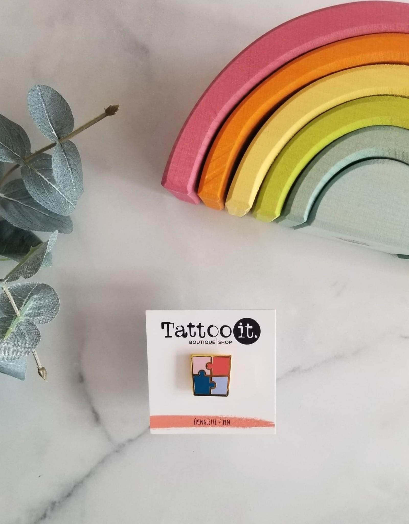 Tattoo It Épinglette Puzzle - Pour la Fondation Véro & Louis