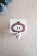 Veille sur toi Veilleuse avec bobo varié - Pomme rose antique