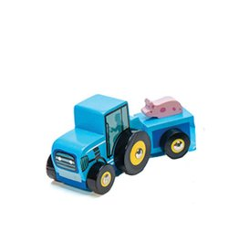 Le Toy Van Small Blue Wooden Tractor
