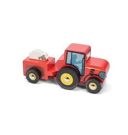 Le Toy Van Small Red Wooden Tractor