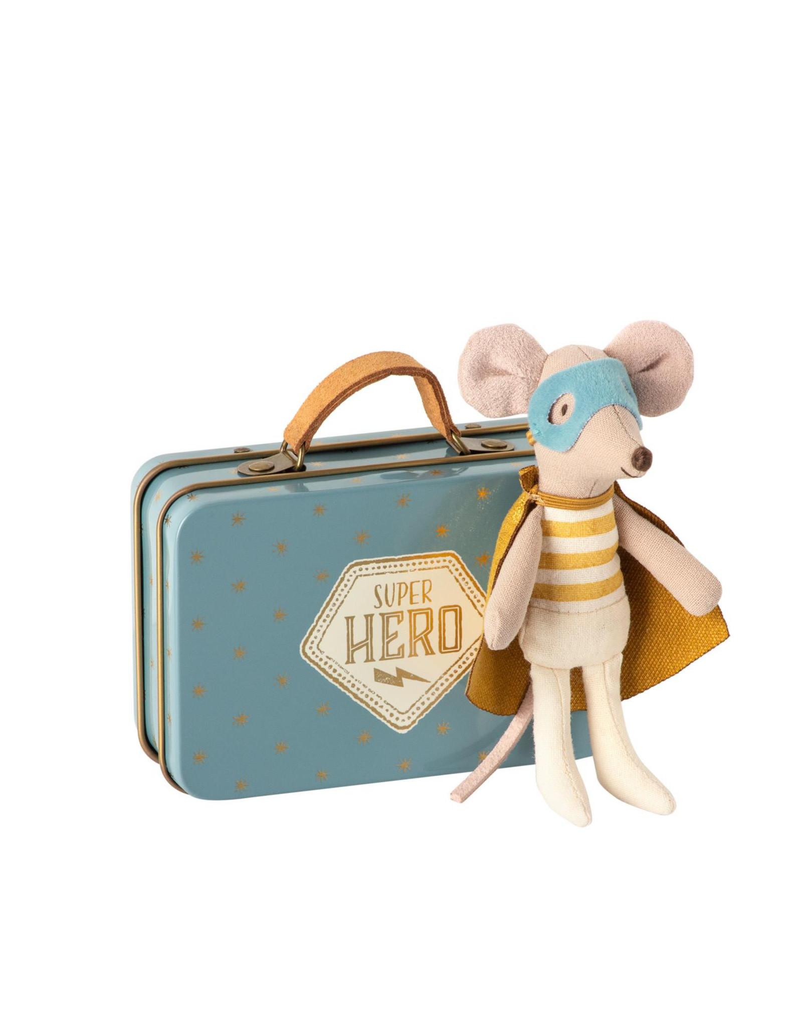 Maileg Petit frère souris Super héros dans une valise