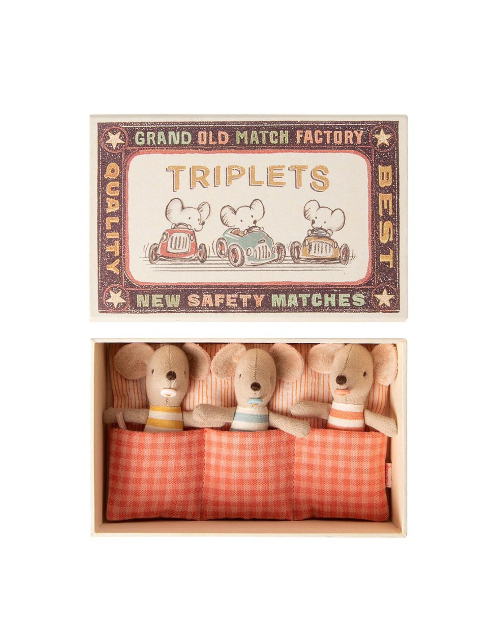 Maileg Baby mice Triplets in matchbox