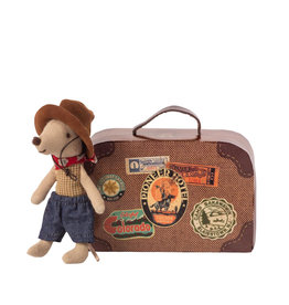 Maileg Petite souris cowboy dans une valise