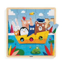 Djeco Casse-tête en bois - Amis en bateau
