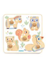 Djeco Wooden Puzzle - Baby Puzzi