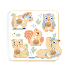 Djeco Casse-tête en bois - Bébé animaux