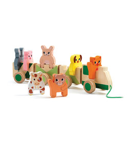 Djeco Pull Along Toy - Trainimo Farm