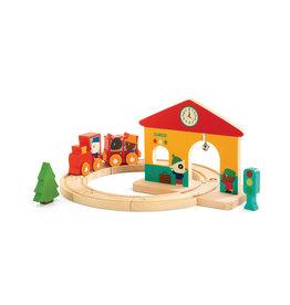 Djeco Jouet en bois - Ensemble mini train