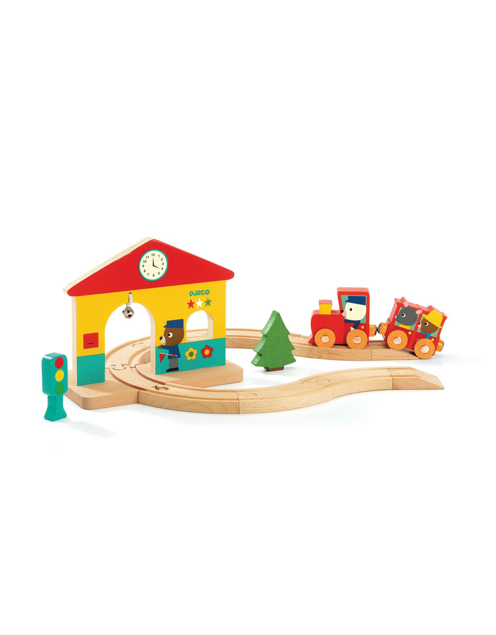 Djeco Wooden Toy - Minitrain Set