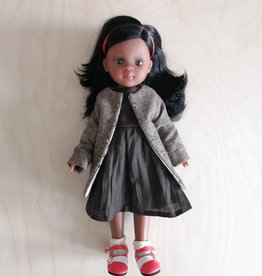 Paola Reina Las Amigas Doll - Nora with brown dress
