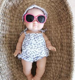 Paola Reina Sunglasses - Fuchsia Outline