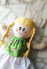 Étincelles et moi Rag Doll - Milly with green dress