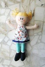 Étincelles et moi Poupée de chiffon - Milly et robe blanche