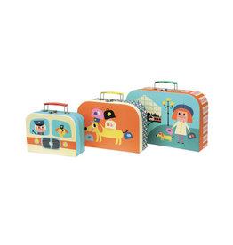 Vilac Set Of 3 Cute Suitcases
