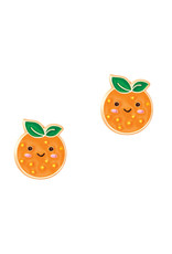 Girl Nation Boucles d'oreilles en émail - Orange