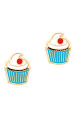 Girl Nation Boucles d'oreilles en émail - Cupcake