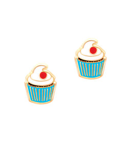 Girl Nation Enamel Studs Earrings - Cupcake