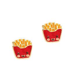 Girl Nation Enamel Studs Earrings - French Fries