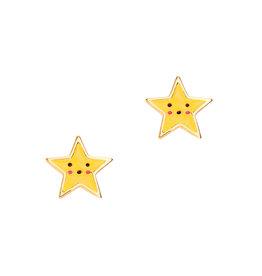 Girl Nation Enamel Studs Earrings - Star
