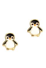 Girl Nation Boucles d'oreilles en émail - Pinguin