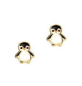 Girl Nation Enamel Studs Earrings - Penguin