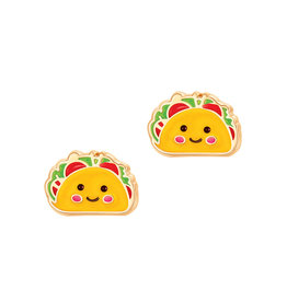 Girl Nation Enamel Studs Earrings - Taco