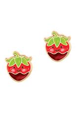 Girl Nation Enamel Studs Earrings - Chocolat Strawberry