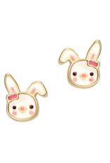 Girl Nation Enamel Studs Earrings - Rabbit