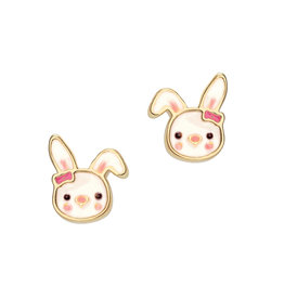 Girl Nation Enamel Studs Earrings - Rabbit
