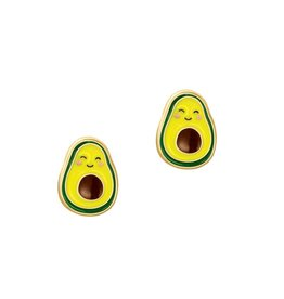 Girl Nation Enamel Studs Earrings - Avocado