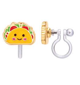 Girl Nation Boucles d'oreilles à clip en émail - Taco