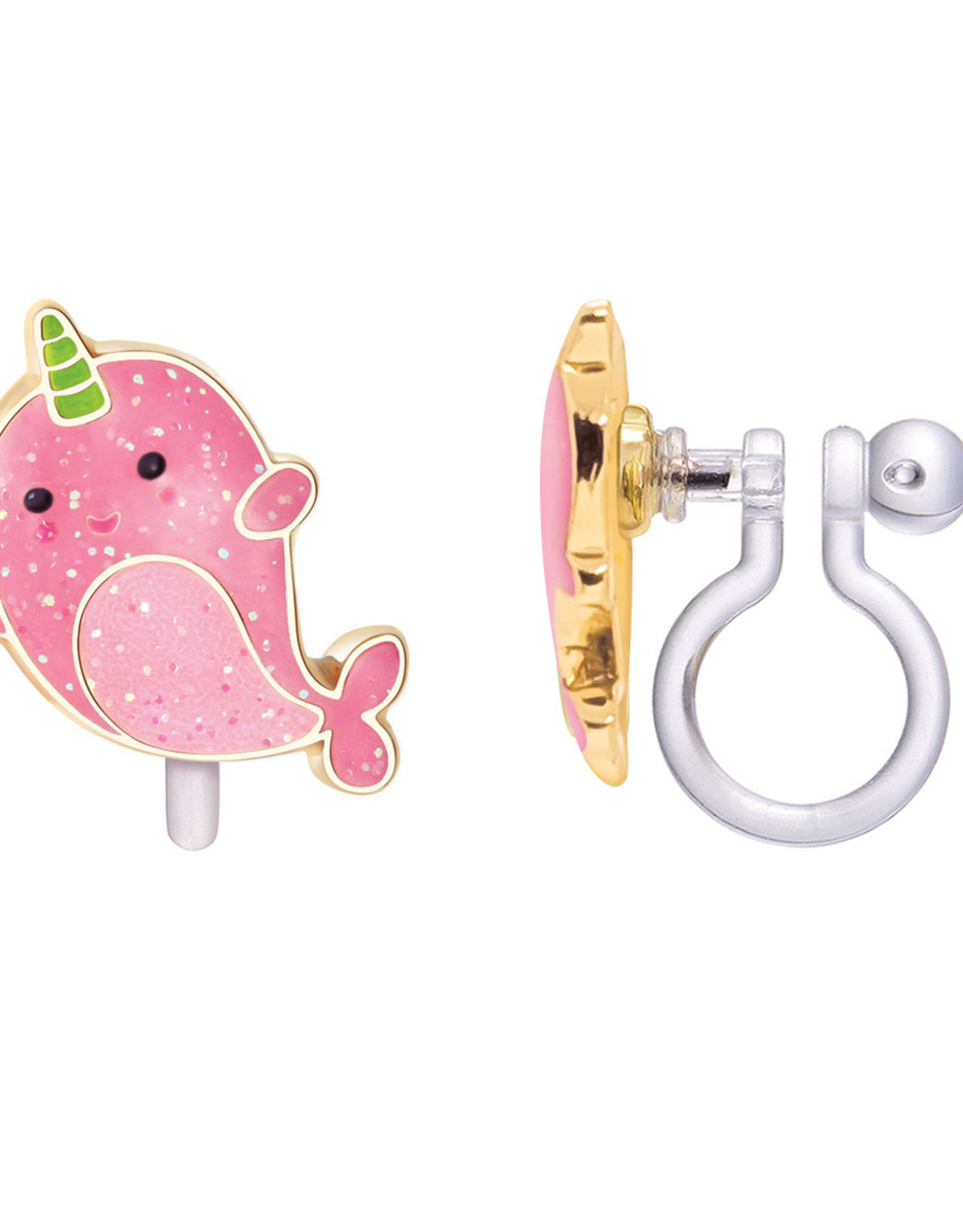 Girl Nation Clip-On Earring - Narwhale Pink