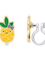 Girl Nation Boucles d'oreilles à clip en émail - Ananas