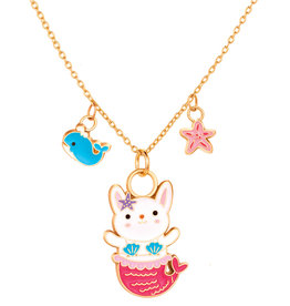 Girl Nation Charming Whimsy Necklace - Rabbit Mermaid
