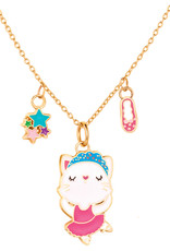 Girl Nation Charming Whimsy Necklace - Ballerina Cat