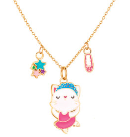 Girl Nation Collier fantaisie  - Chat ballerine