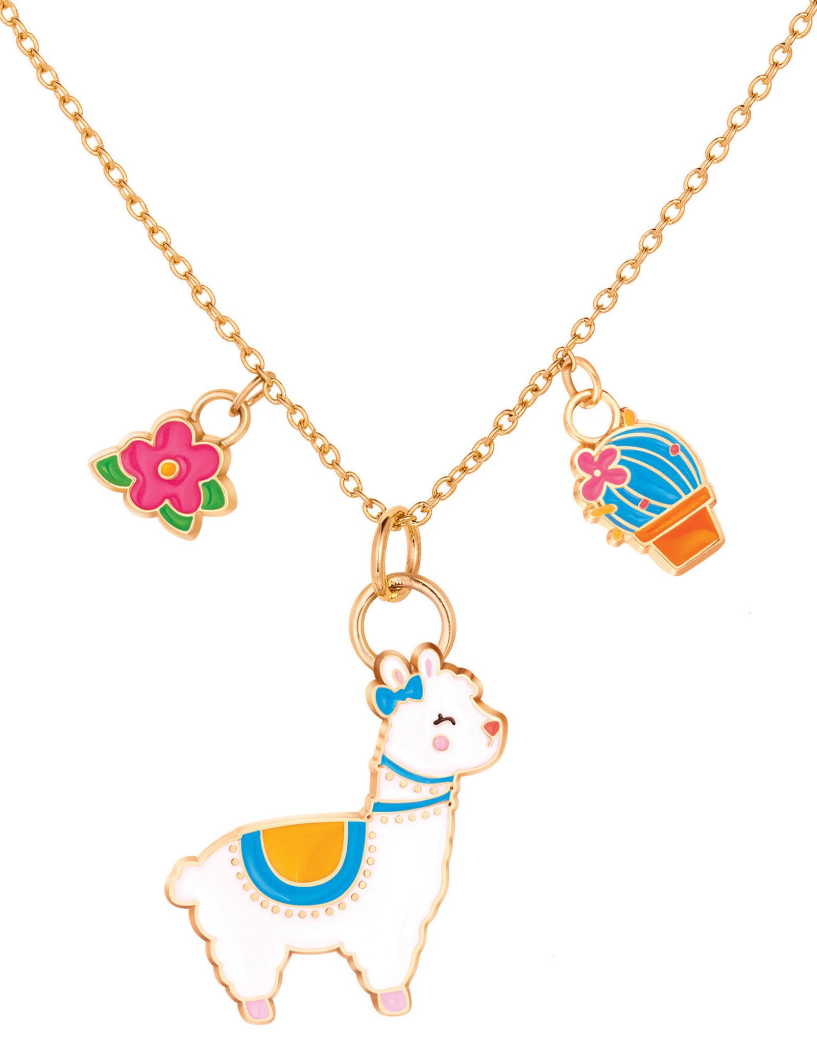 Girl Nation Charming Whimsy Necklace - Llama
