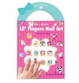 Girl Nation Fingers Nail Art - Unicorn Fantasy