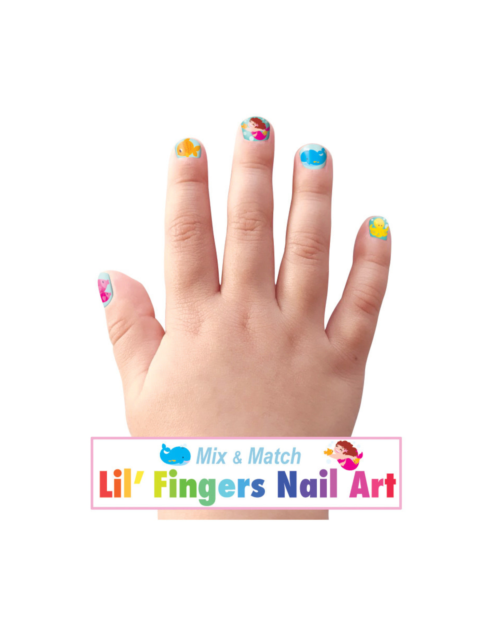Girl Nation Fingers Nail Art - Mermaids and friends