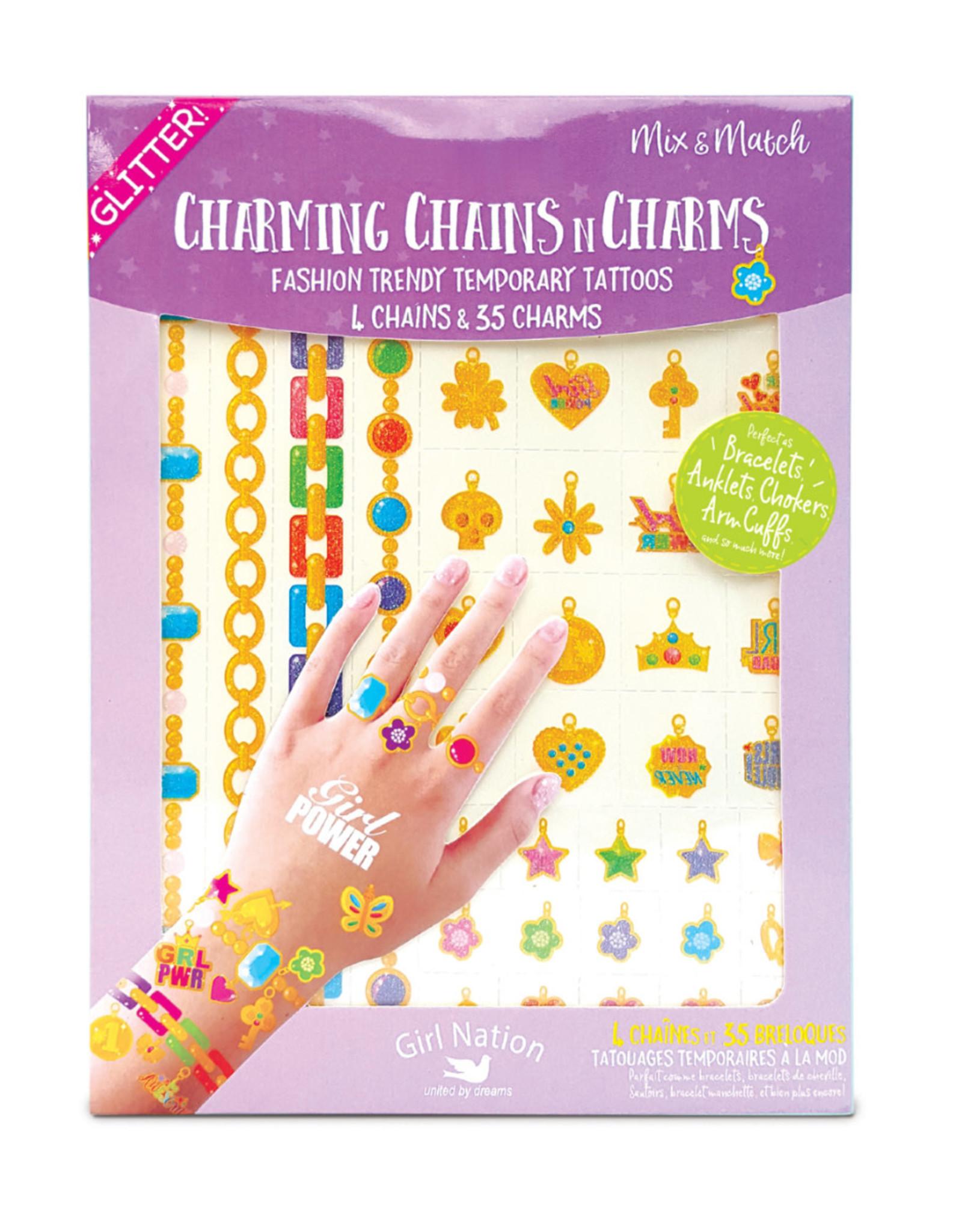 Girl Nation Tatouage bijoux - Pouvoir aux filles
