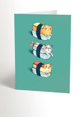 Valérie Boivin Illustrations Greeting Card - Sushis Cats