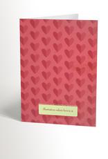 Valérie Boivin Illustrations Carte de souhaits - Chat lunettes en coeur