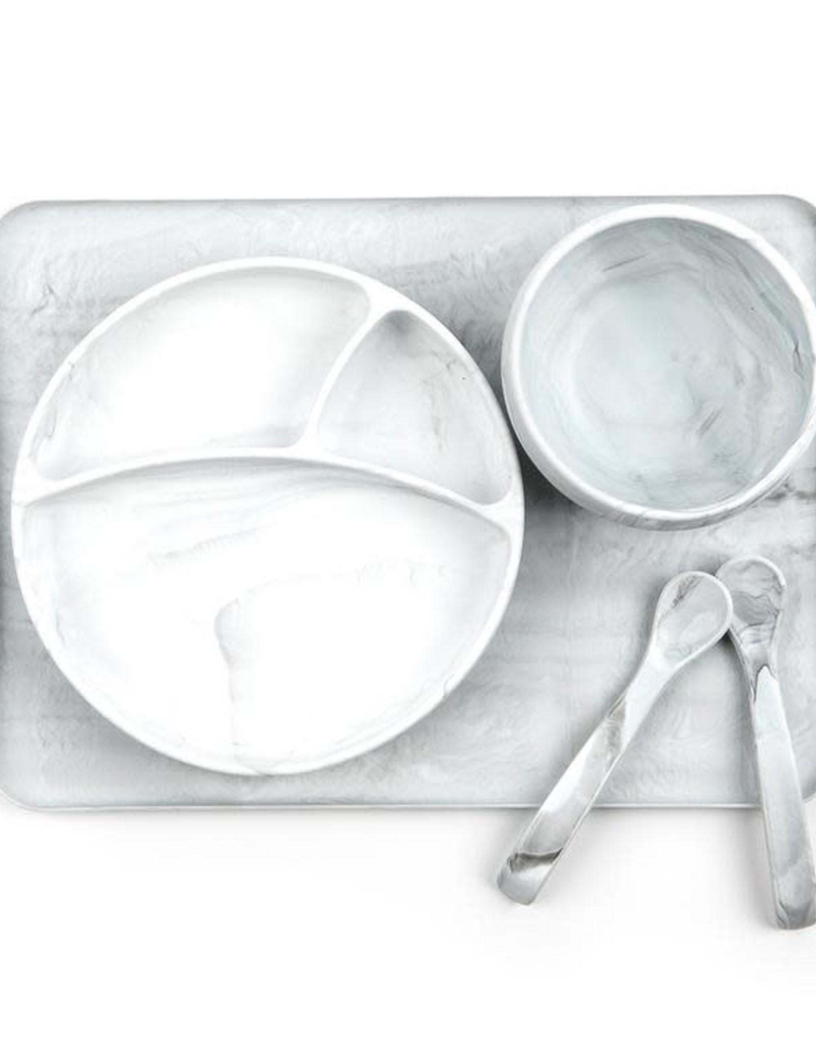 Bella Tunno Assiette silicone imitation marbre