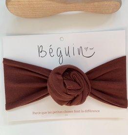 Béguin Flower Bow Headband - Rust - One Size