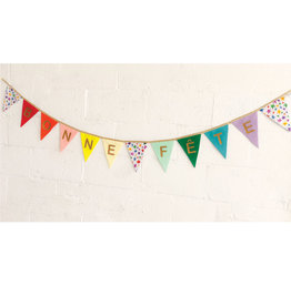 Fancy Little Day Happy Birthday Rainbow Banners With Big Stars