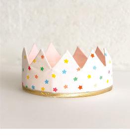 Fancy Little Day Couronne mini étoiles multicolores rose pâle