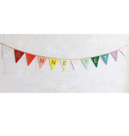 Fancy Little Day Happy Birthday Rainbow Banners With Small Stars